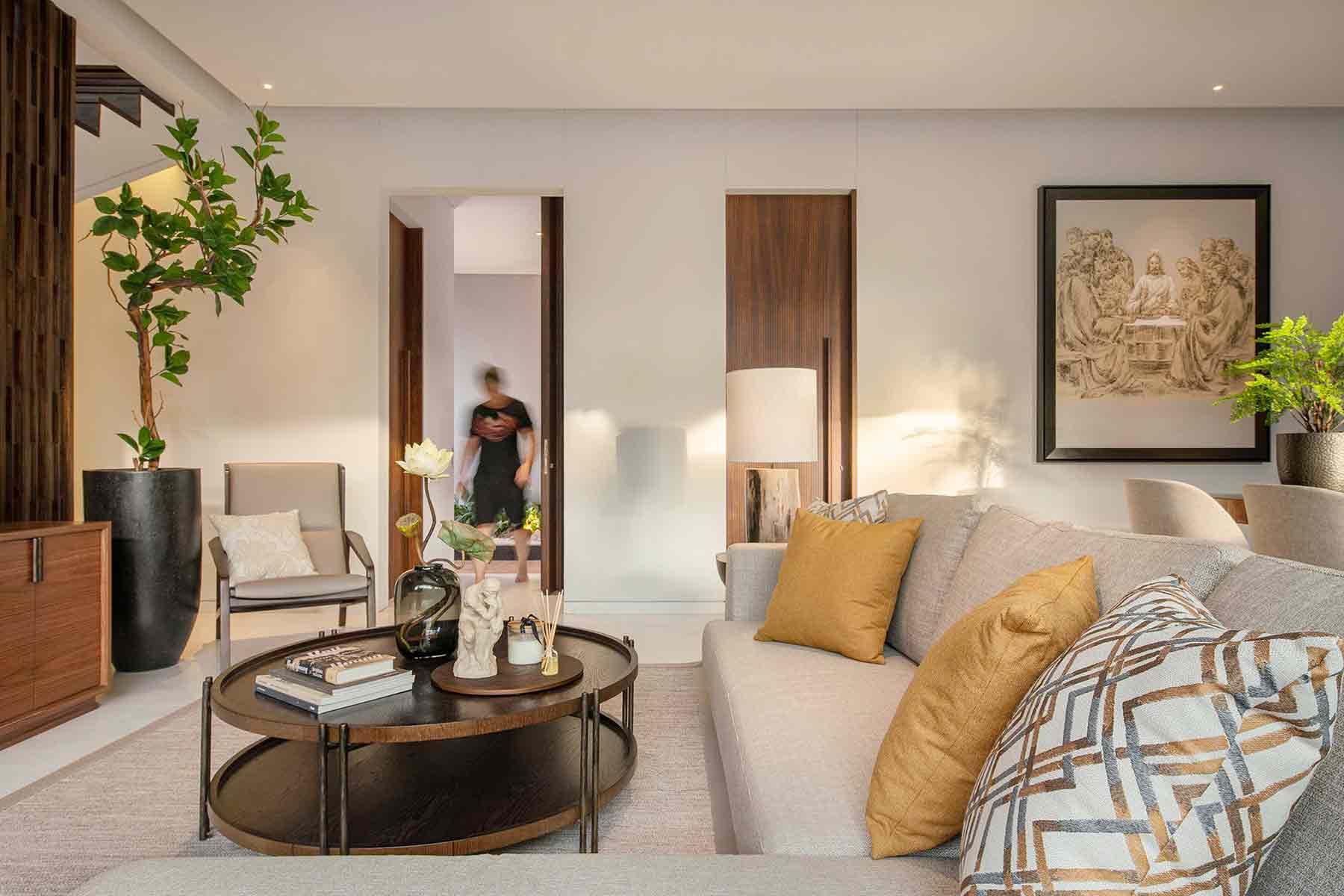 Interior yang mengandalkan warna-warna minimalis, karya YO Design Architect, via arsitag.com