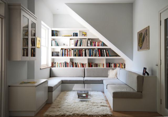 Sofa dengan tempat penyimpanan, via houzz.in
