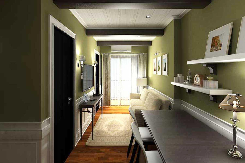 Warna hijau di ruang sempit apartemen, karya Emil Yusman, via arsitag.com