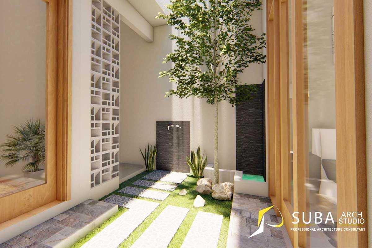 Taman rumah minimalis modern, karya SUBA-Arch, via arsitag.com